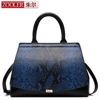ZOOLER Elegant Python Pattern Blue Women Bags Handbags Brand High Quality Luxury Party Handbag Crossbody Bag
