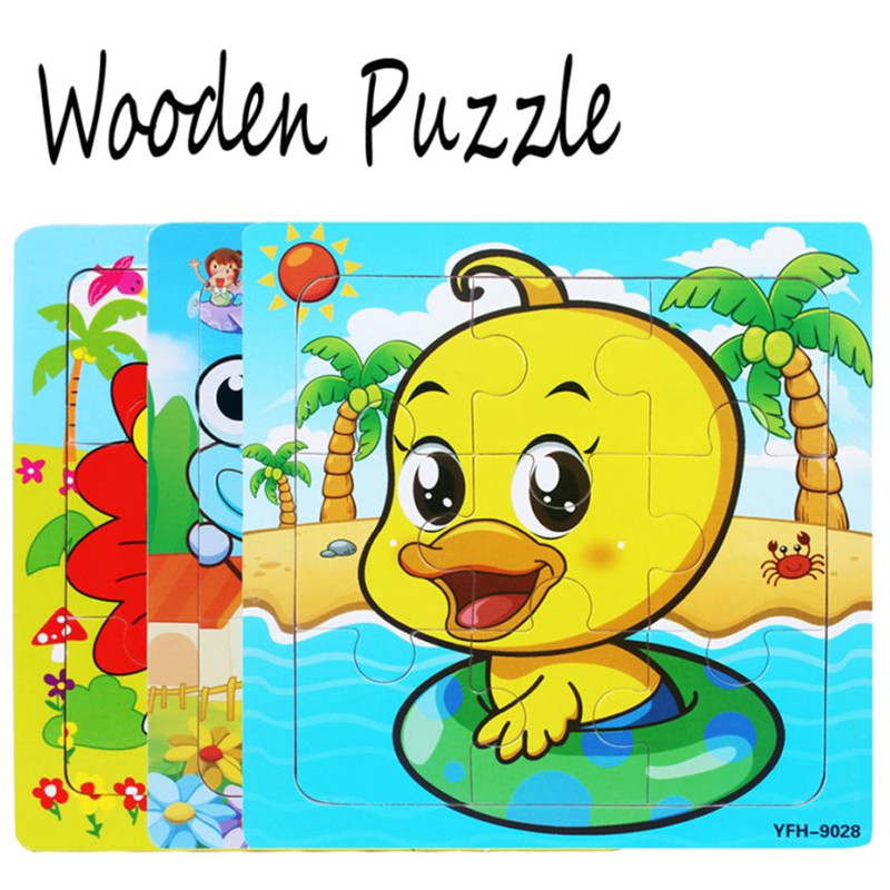 wholesale drop shipping Wooden Puzzle Educational Developmental Baby Kids Training Toy Christmas Gift S3MAY31