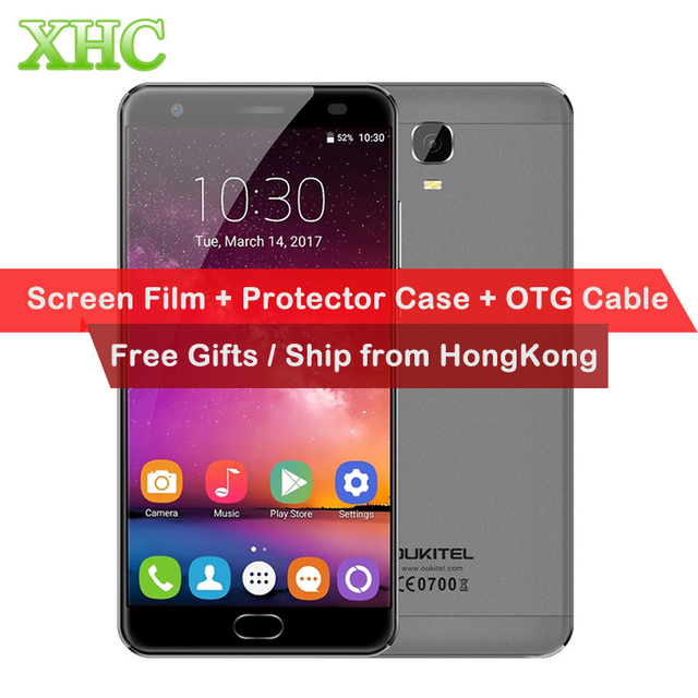 OUKITEL K6000 Plus 64GB 4G LTE Smartphone 6080mAh 5.5''FHD Android 7.0 MTK67 RAM 4G Fingerprint 12V/2A Quick charge Mobile phone