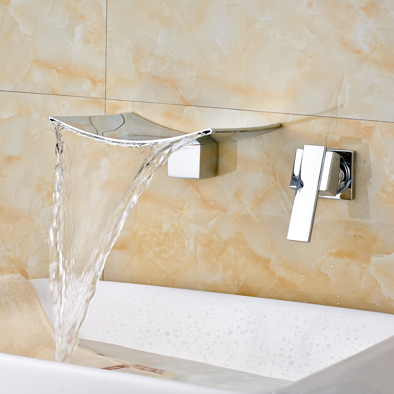 Wholesale and Retail Waterfall Basin Faucets Polished Chrome Wall Mounted Lavatory Sink Water Mixer Tap Single Handle pastoralism and agriculture pennar basin india