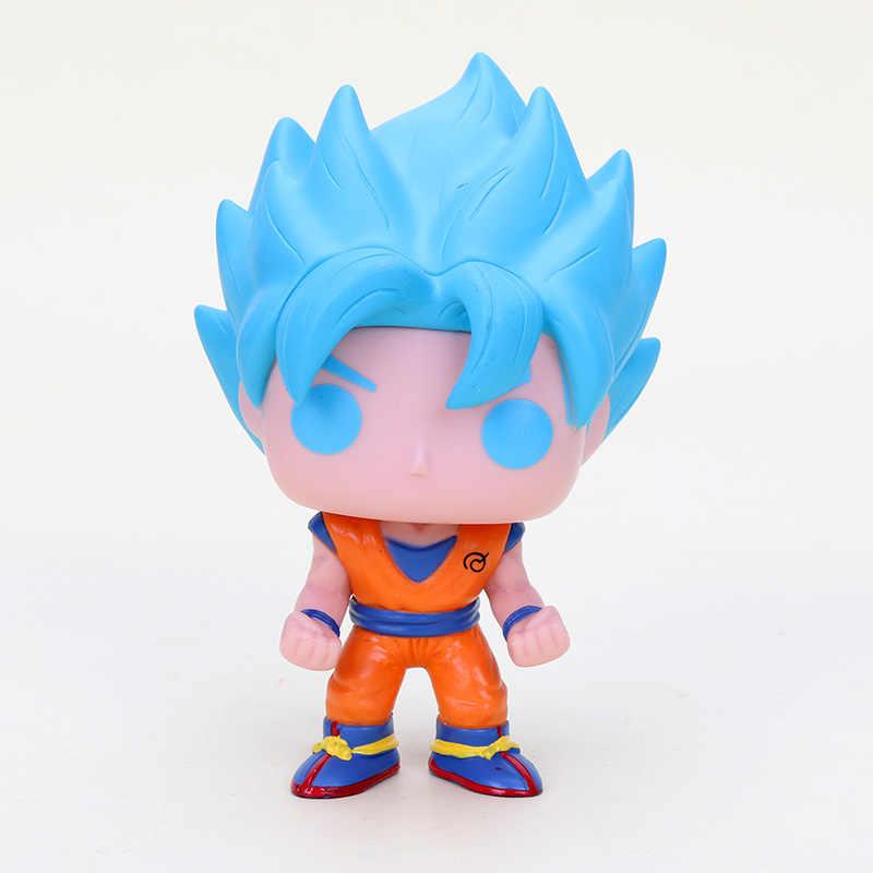 10 centímetros Dragon Ball Z Action Figure super saiyan Goku DBZ freeza celular buu Vegeta PVC Figuras Modelo preto brinquedos Dragon Ball super