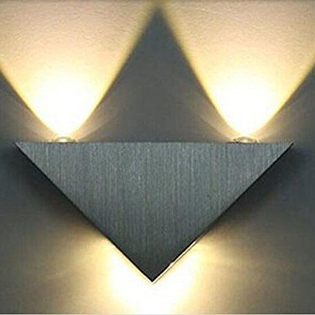 <font><b>Home</b></font> Improve 3W Aluminum Triangle Led Wall Lamp Bathroom Cabinets Led Modern <font><b>Home</b></font> Lighting Indoor and Outdoor <font><b>Decoration</b></font> Light