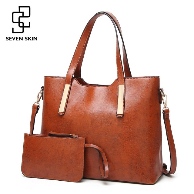 SEVEN SKIN Fashion Leather Composite Bag Famous Brand Women Bag High Quality Female Handbags Luxury Bags for Women Shoulder Bag