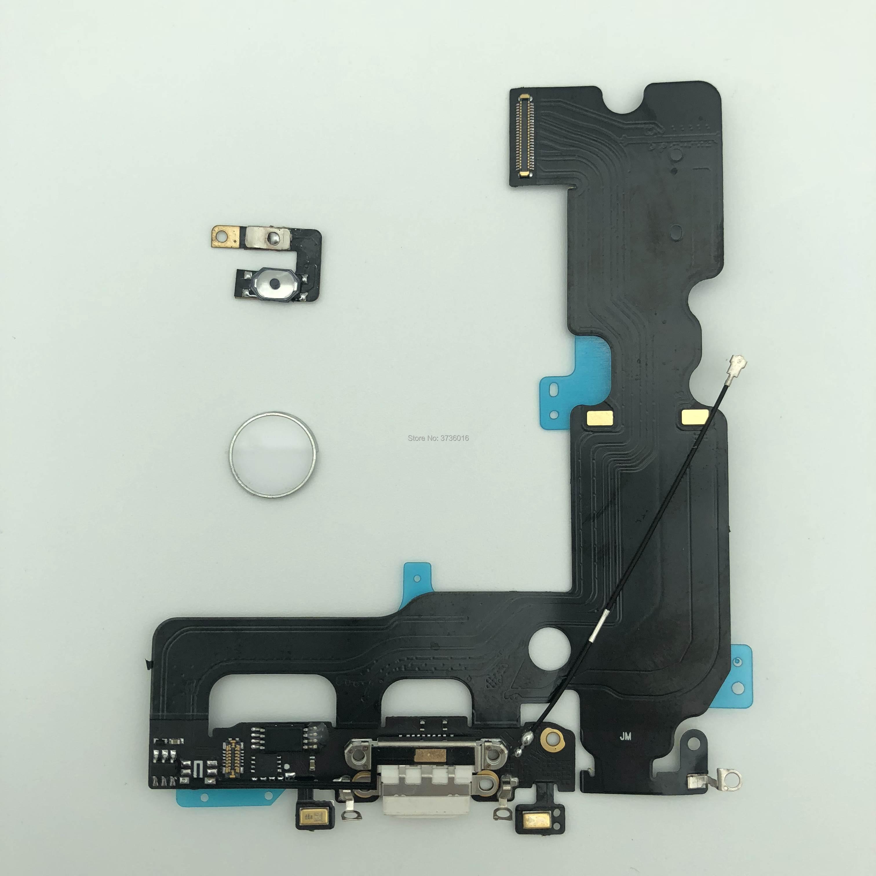 Pour iphone 7 plus USB Port de chargement Dock connecteur câble flexible avec empreinte digitale pièces endommagées remplacement pour réparation de téléphone portable