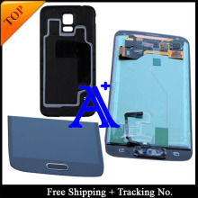 Free Shipping +Back cover  tested Original  For Samsung Galaxy S5 G900 G900F LCD Digitizer Assembly home button +sticker