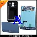 Frete grátis + back cover testado original para samsung galaxy s5 g900 g900f lcd montagem digitador botão home + adesivo