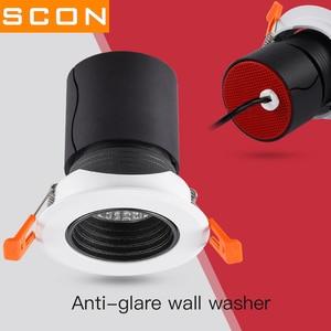 Image 3 - Scon Led 7W 12W Verzonken Plafond Spotlight Cob Ra>93 Hotel Muur Wassen Lamp 24 Graden Commerciële indoor Downlight 4000 K