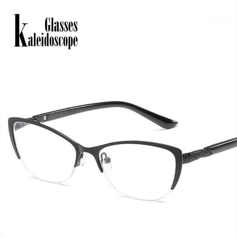 Kaleidoscope очки для чтения мужские и женские металлические оптические зеркальные очки против усталости мужские очки кошачий глаз для пожилых людей