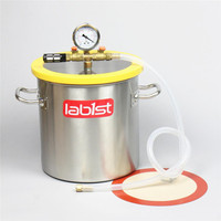 3.2 Gallon 250mm 9.8 Stainless Steel Vacuum Degassing Chamber, Polycarbonate Lid
