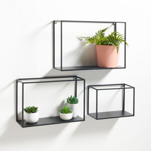 ФОТО collalily American style Nordic Wall Storage Holders Racks metal geometric balck Modern Design Hanger corridor Rail bookrack