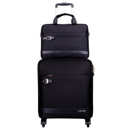 Business Box Boarding box Universal wheel female Oxford cloth travel soft luggage trolley Box man suitcase +bag CD50