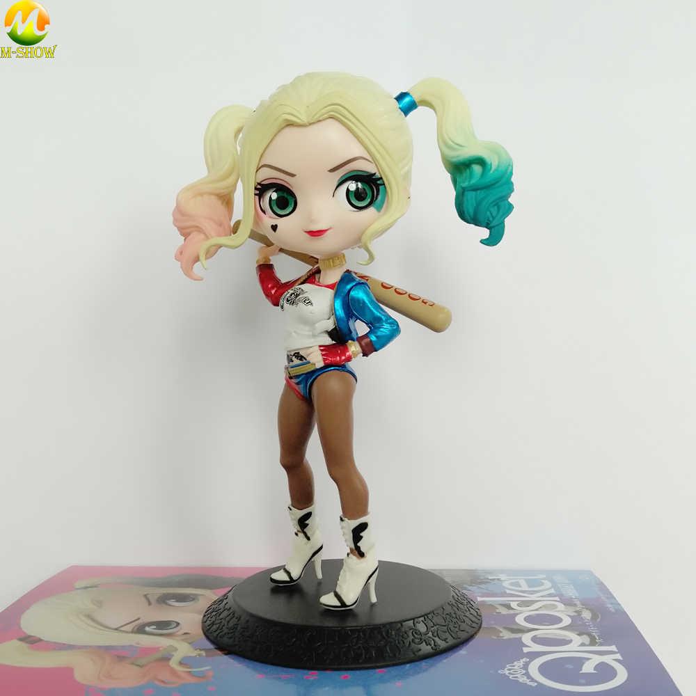 d917c041a96d ... 14CM Q Posket Harley Quinn Figures Toy Suicide Squad Joker Quinn Action  Figure Doll PVC Anime ...