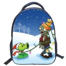 2016 neue Heiße verkauf Plants Vs Zombies Pikachu Cartoon prägen kleine jungen und mädchen studenten tasche rucksäcke schule reiserucksack