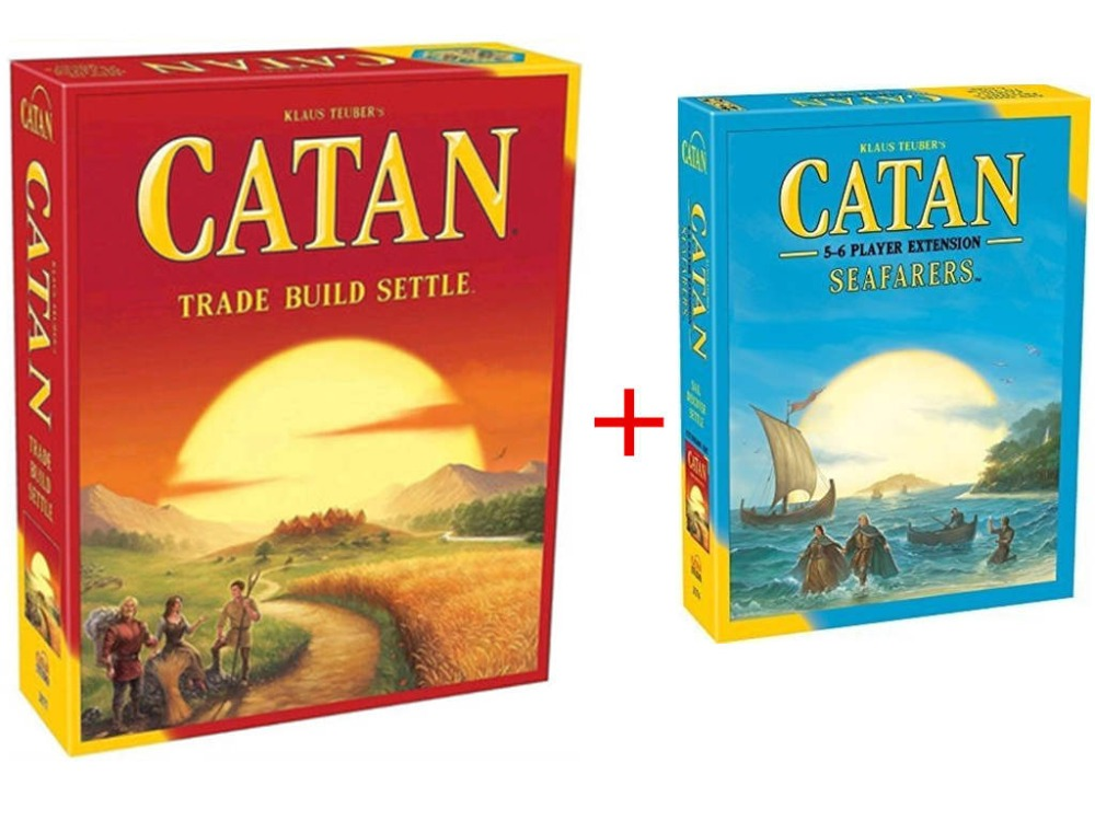 Catan Board Game:  Trade Build Settle 5.0 Version / Seafarers 5-6 Player Extension pack
