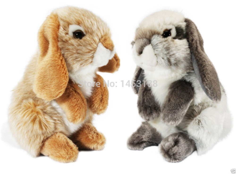 Small Toy Rabbits : Living nature small lop eared rabbit plush soft toy grey
