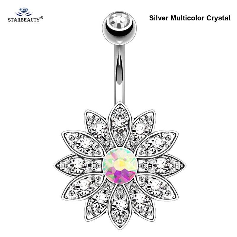 Silver Multicolor Crystal