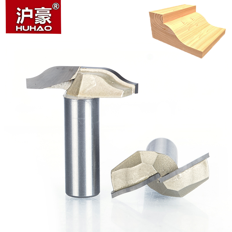 HUHAO 1pc 1/2 Shank CNC Woodworking Tools Door Mould Knife For Wood Carbide Engraving Milling Cutter For MDF Hard Wood engraving machine tools lace knife woodworking milling cutter tools for wood furniture metal aluminium stainless steel end mill