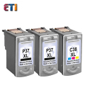 3PK For Canon PG37 CL38 PG 37 CL 38 Ink Cartridges For IP 1800 / 1900 /  2500 /  2580 /  2600  140 / 160 /  190