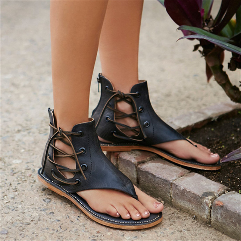 beauty cheap prices timeless design The Stylish Sandals Concise Shoes Woman Vintage Gladiator ...