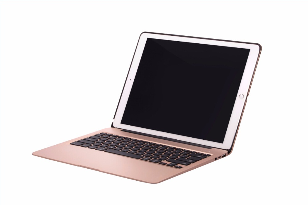 Bluetooth Wireless Case For APPLE IPAD PRO 12.9 keyboard case Backlit Aluminum Slim Keyboard Cover 7 Colors backlit slim case for ipad mini 4 aluminum wireless bluetooth keyboard 7 colors backlit protective smart cover for ipad mini4 flip stand