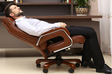 Computer chair can lie lifting boss chair leather swivel chair