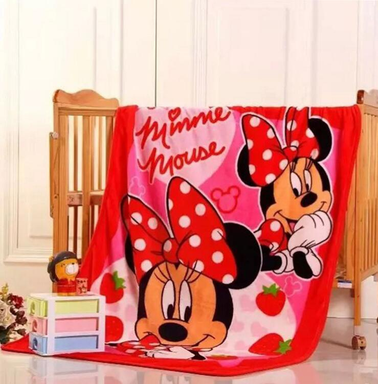 Winter Baby Blanket /Children Girl's Soft Coral Quilt 100*140cm Hello kitty Minnie Cartoon Characters plaid fleece Blankets free shipping infant children cartoon thick coral cashmere blankets baby nap blanket baby quilt size is 110 135 cm t01 page 3