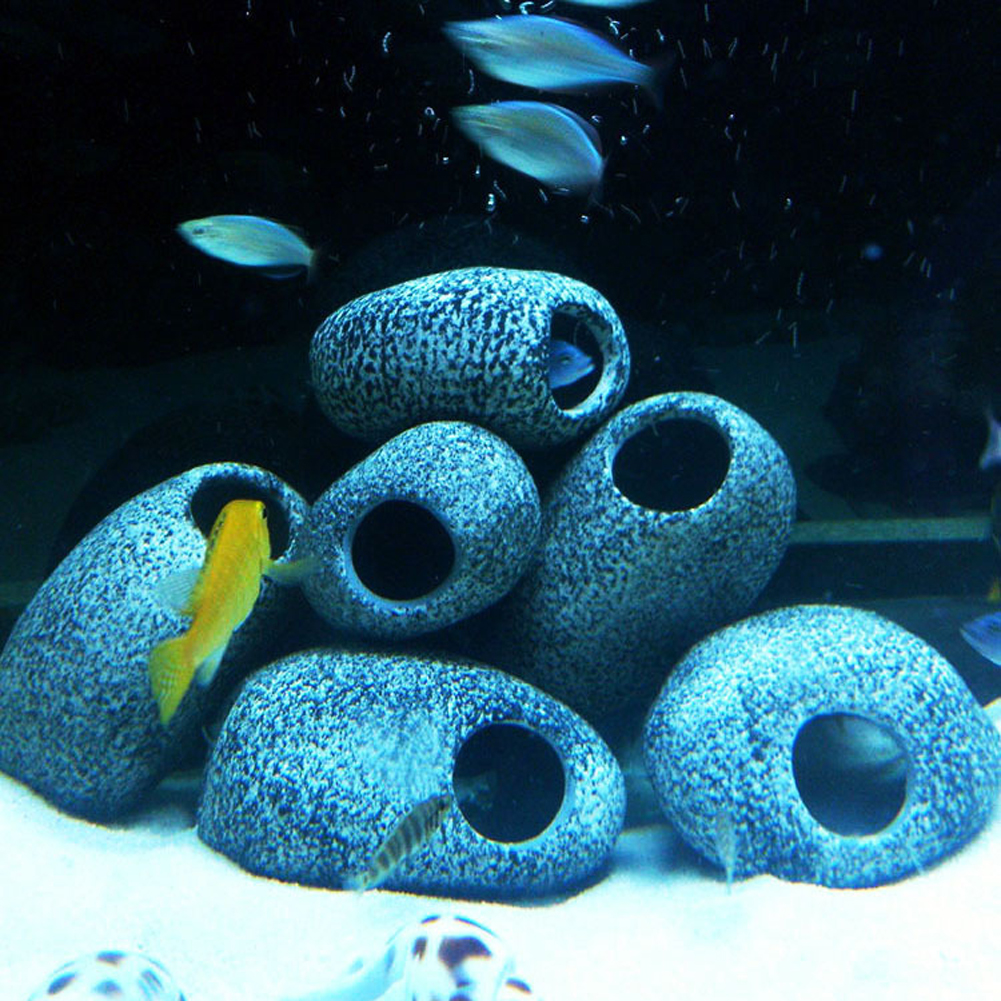 Aquarium fish tank sizes - Special Design S M Size Cichlid Stone Ceramic Rock Cave Aquarium Fish Tank Ornament Decoration