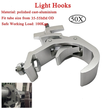 Free Shipping50pcs/lot High Quality Aluminium Material Light Hook For Led Par Moving Head Light Clamp Disco DJ Stage Accessories simple aluminum integrated stage light hook lighting clamp cast steel folding beam light hook loading 150kg 50mm truss tube