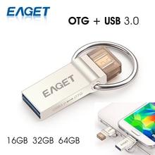 Eaget v90 usb flash drive usb 3.0 16 gb 32 gb 64 gb micro usb otg pendrive u disco de almacenamiento usb stick para samsung android teléfono de la pc