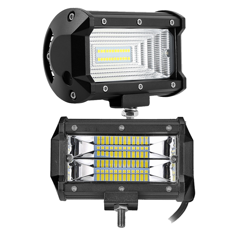 5 zoll 72 watt led-lichtleiste spot flut strahl led-flutfahrscheinwerfer für Off Road auto 4WD 4x4 UAZ SUV motorrad rampe 12 v 24 v auto nebel lampe