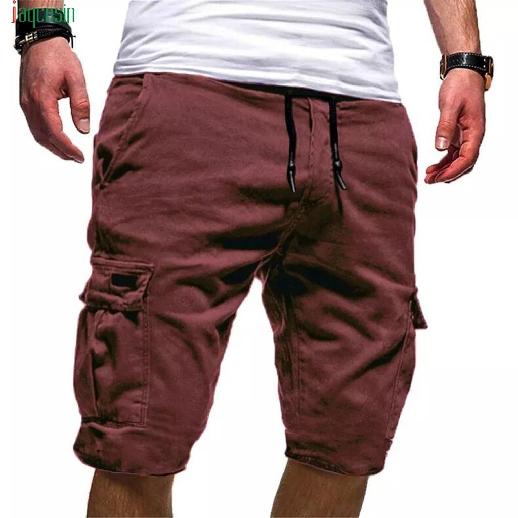 Jaycosin Cargo-Shorts Pantalones Drawstring Military Tactical Cotton Mens Casual New
