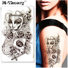 M-Theory Temporary 3D Tattoos Body Art Phantom Of The Opera Flash Tatoos Sticker 12x20cm Waterproof Swimsuit Bikini Dress Makeup