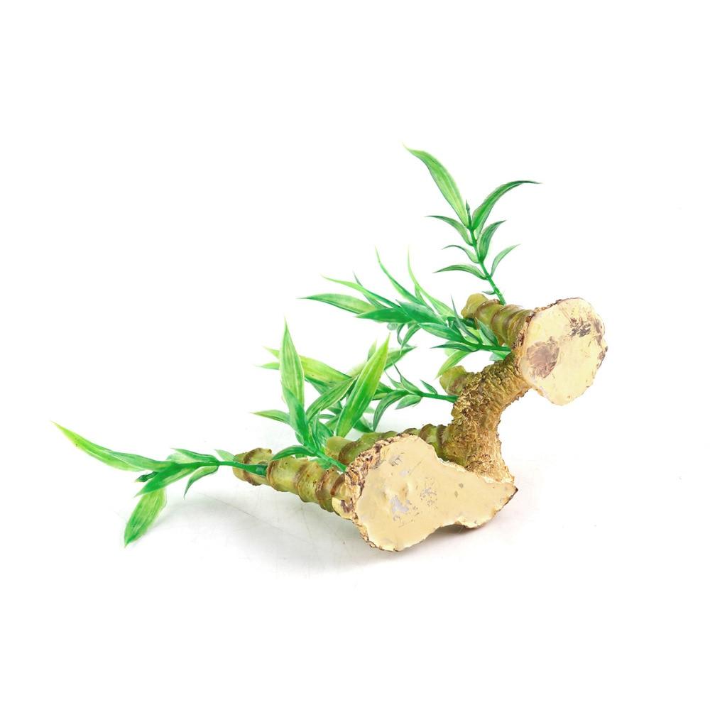 Green Bamboo Plant Vegetation Goldfish Fish Tank Decoration Aquarium Tank Grass Ornaments Aquatic Toys Home Decoration Crafts in Figurines Miniatures from Home Garden