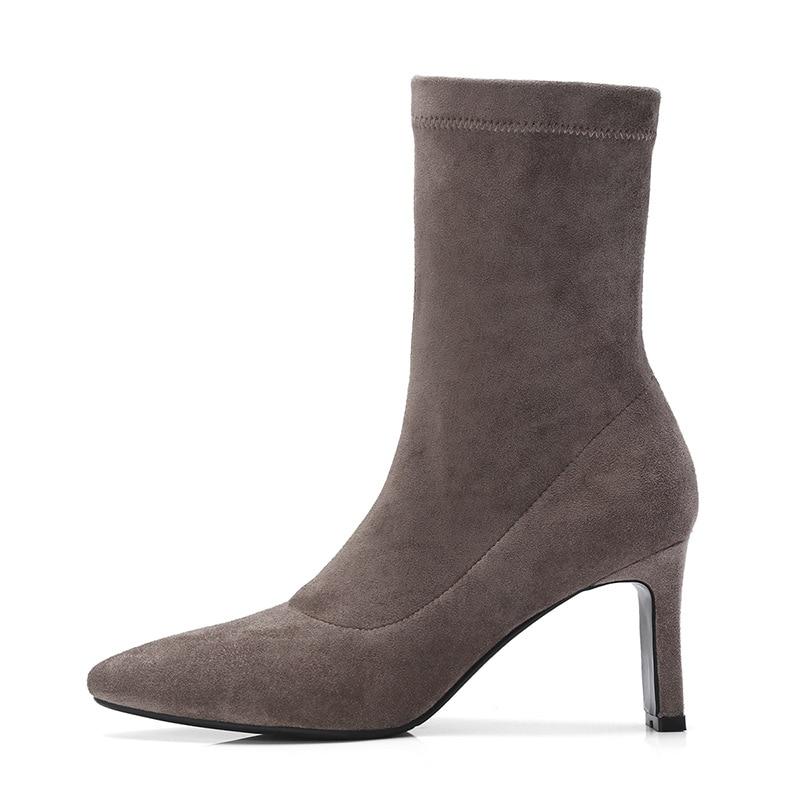 A879a Et 2018 Pur Européen Black Américain gray Nouveau Chaussures Couleur Sharp Bottes D'hiver Doux Automne Femmes Marque Femme Martin Iq6wPxRYa