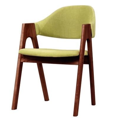 Стул принцессы из цельного дерева в скандинавском Роге, современный стул в стиле минимализм - Цвет: 1