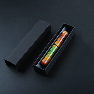 Image 5 - Wanwu Mini pluma de inmersión de vidrio y pluma estilográfica Aurora, creativa, celuloide, EF/F/Pequeño plumín curvo, pluma de tinta colorida y juego de regalo