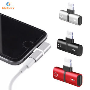 2 in 1 Splitter For Lightning Audio Charging Adapter Mobile phone Converter