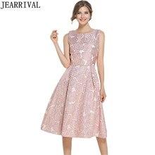 High Quality Summer Dress 2018 New Fashion Women Vintage Embroidery Sleeveless Ball Gown Party Runway Dress Vestido De Festa