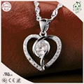 Top Quality Cheap Price Fashion And Popular 100% 925 Genuine Silver Stone Heart Pendant