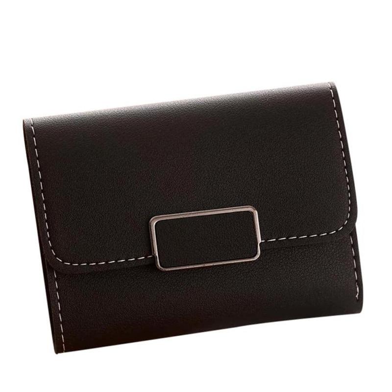 Women's purse Wallet card Women Simple Short Wallet Hasp Coin Purse Card Holders Handbag Women's purse Handbag 2017 New Gift #2 casual weaving design card holder handbag hasp wallet for women