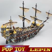 LEPIN 16042 Karib-tenger kalózai Kapitány Jack Csendes Mary Épület blokkjátékok kompatibilis Legoe kalózokkal Caribbean