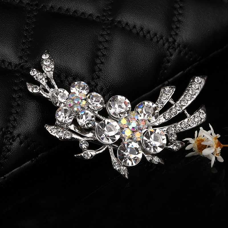 ce846bd2771 ... Hesiod Delicate Crystal Rhinestone Brooch Banquet Jewelry Simulated  Pearl Goldfish Brooches Pins Wedding Bridal Dress Decoration ...