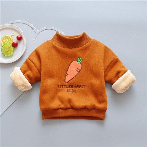 BibiCola New Winter Kids Jackets For Girls Coats Kids Cotton Sweatshirts Baby Girls Warm Cartoon Outerwear Children's Clothing