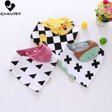 цена Chivry 3Pcs 100% Cotton Baby Boy Girl Bandana Bib Burp Cloth Cartoon Print Triangle Baby Bibs Scarf Meal Collar Burp Month Towel онлайн в 2017 году