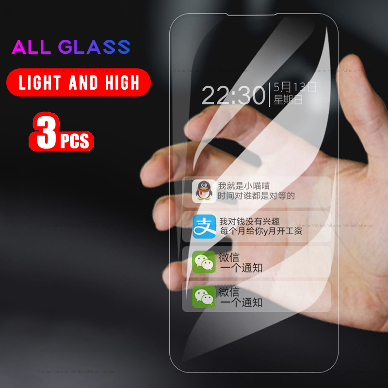 3-1Pcs Glass For Meizu 16X 16S 16 16th Note 9 X8 Tempered Glass For Meizu M3 Mini M6 M5 M3 Note M5C M5S M6S X 8 Screen Protector