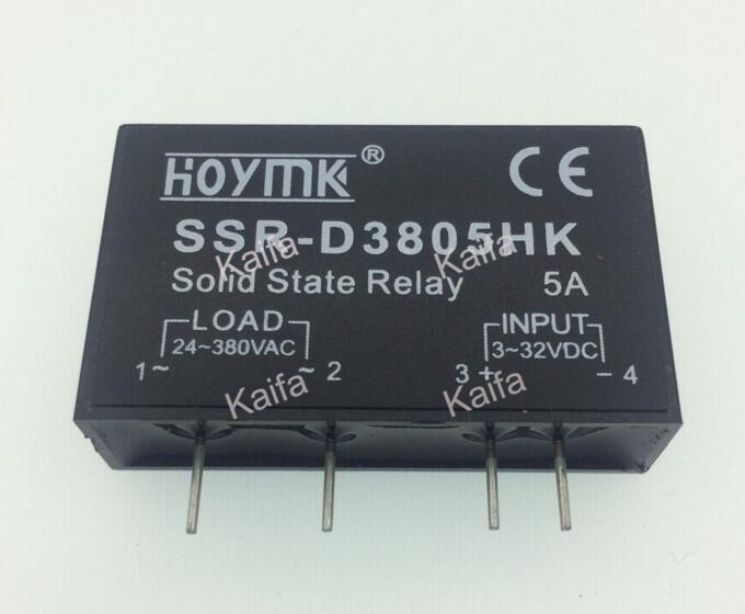 PCB Dedicated with Pins SSR-D3805HK 5A DC-AC Solid State Relay SSR-D3805HK smart electronics original solid state relay g3mb 202p dc ac pcb ssr in 5vdc out 240v ac 2a