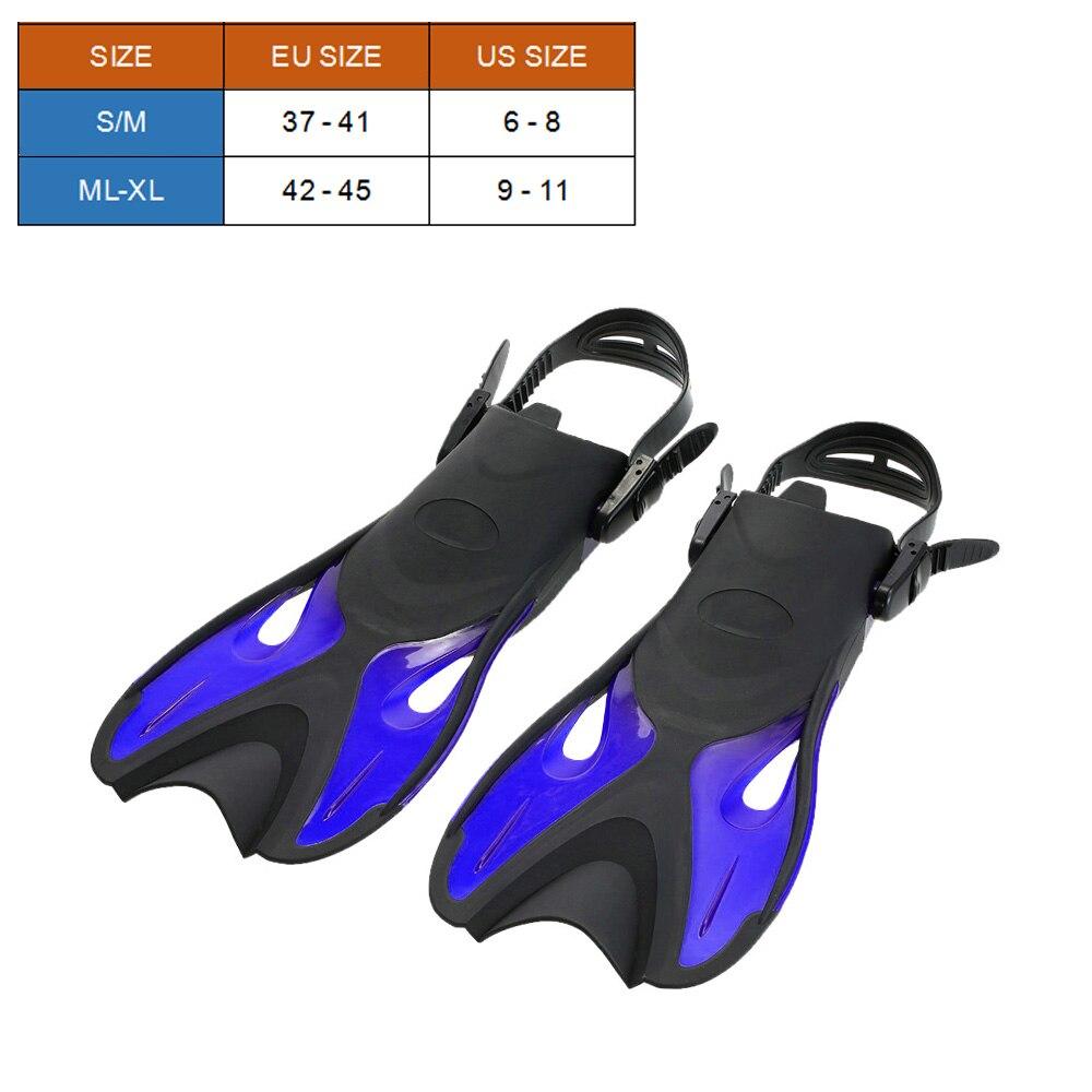 Snorkeling Combo Set Anti-vaho gafas máscara tubo de Snorkel aletas natación buceo viajes buceo gafas con bolsa de equipo - 5
