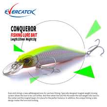 2018 EVERCATCH magnet system, Retail A+ fishing lures, minnow crank 135mm 19g,hot model crank bait,VMC hank,Slow Floating lure