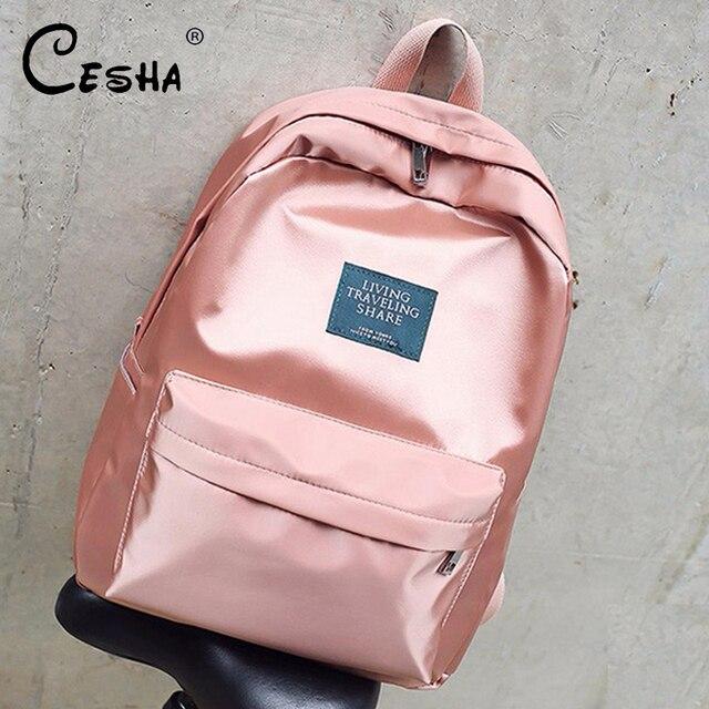 Fashion Casual Women Backpack Soft Fabric Backpacks Girls School Bags Nylon Travel Backpack Female Backpack Mochila with gift Ladies multi-functional bag
