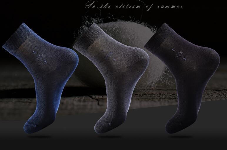 Crew Silk men sock 62.5% silk 5 piece a box Summer High quality socks Thin breathable